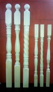 Балясины и столбы из бука в компании Dvm-wood